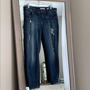 Eunina Ava low rise zipper skinny ankle jeans